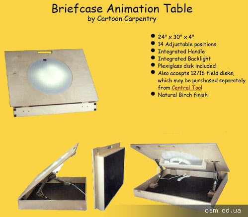 Workplace animator - animation desk
