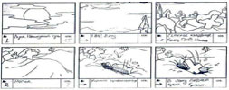 Storyboard of animation - Novy God na khutore bliz Dikanki Ot zakata do rassveta