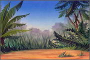 "Backgrounds for feature length animation ""Animal wars"" - 23"
