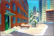 "Backgrounds for animation ""Noviy god na khutore bliz Dikan'ki. Ot zakata do rassveta"" - 16"