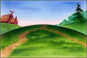 "Backgrounds for cartoons ""Zolotoe koltso"" - 15"