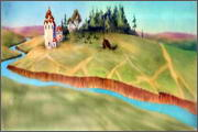 "Backgrounds for cartoons ""Zolotoe koltso"" - 6"