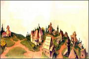 "Backgrounds for cartoons ""Zolotoe koltso"" - 7"