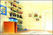 "Backgrounds for animated serial ""MASKY show"" - 107"