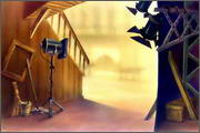 "Backgrounds for animated serial ""MASKY show"" - 110"