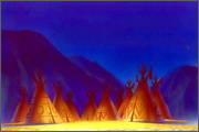 "Backgrounds for animated serial ""MASKY show"" - 27"