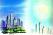 "Backgrounds for animated serial ""MASKY show"" - 91"