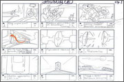"Storyboard of animation ""Novy God na khutore bliz Dikanki. Ot zakata do rassveta""  - 21"