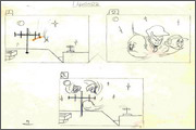 "Storyboard for animation ""Humorous rhymes of sadist"" - 1"