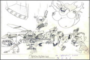 "Storyboard for animation ""Humorous rhymes of sadist"" - 24"