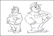 "Pictures, images and searching characters for animation ""Travelling of brave soldier Svejk""- 1"
